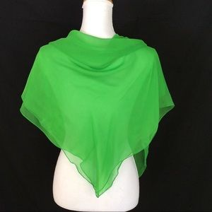 New Neon Green Square scarf Solid Color green